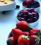 Fresh fruit as healthy snack royalty free stock image