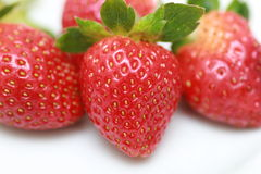 Fresh strawberries close-up Stock Photos
