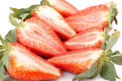 Fresh Strawberries closeup Stock Images