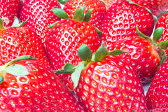 Fresh Strawberries Closeup. With seeds Stock Images