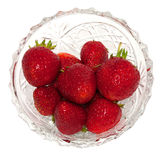 Fresh strawberries in a crystal vase Stock Photo