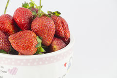 Fresh strawberries in a Cup. Fresh strawberries in a small Cup Stock Image