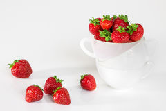 Fresh strawberries in a cup Stock Image