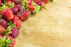 Fresh strawberries on a cutting board Stock Photo