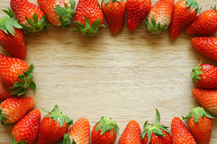 Fresh strawberries frame Royalty Free Stock Image