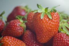 Fresh strawberries in heap Stock Photo