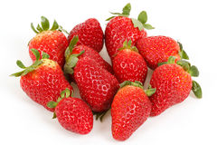 Fresh strawberries isolated on white Stock Photography