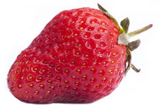 Fresh strawberries. Isolated on white Royalty Free Stock Images