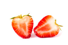 Fresh strawberries isolated on white background Stock Image