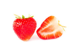 Fresh strawberries isolated on white background Stock Photography
