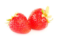 Fresh strawberries isolated on white background Royalty Free Stock Image