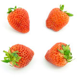 Fresh strawberries isolated on white background. Royalty Free Stock Photo