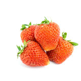 Fresh strawberries isolated on white background. Royalty Free Stock Images