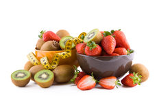 Strawberries and kiwi Royalty Free Stock Photo