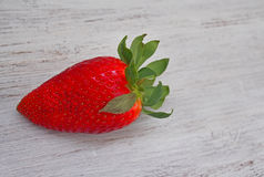 Fresh strawberries  and love inscription. Spain Stock Image