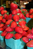 Fresh strawberries at market Stock Images