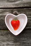 Fresh strawberries on old wooden background Royalty Free Stock Photography