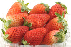 Fresh Strawberries in original packaging Royalty Free Stock Photography