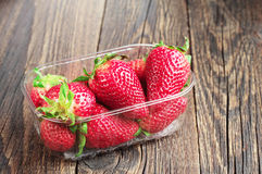 Fresh strawberries in packing Stock Photography