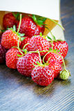 Fresh strawberries in a paper bag Stock Photo