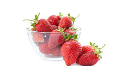 Fresh strawberries in plastic box Royalty Free Stock Photo