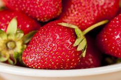 Fresh strawberries. On a plate Royalty Free Stock Photos