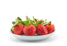 Fresh strawberries on plate Stock Photography