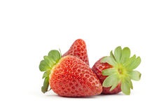 Fresh strawberries. Red strawberries with white background Royalty Free Stock Images