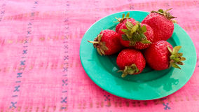 Fresh Strawberries Served on a Table Royalty Free Stock Photo