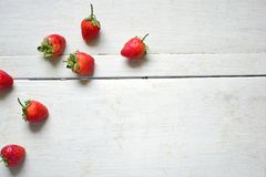 Fresh strawberries. Fresh strawberries set in row Royalty Free Stock Photography