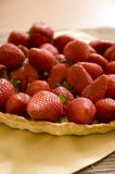 Fresh Strawberries sitting in pastry shell Royalty Free Stock Photography