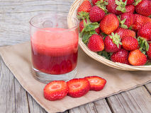 Fresh strawberries smoothie Stock Photography
