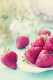 Fresh strawberries, tinted Royalty Free Stock Images
