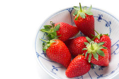 Fresh strawberries to be served as healthy snack Royalty Free Stock Photo