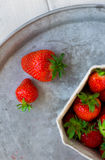 Fresh strawberries on a tray Royalty Free Stock Image