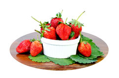 Fresh strawberries were placed Stock Images