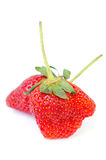 Fresh strawberries were placed Royalty Free Stock Photos