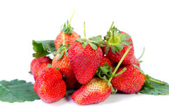 Fresh strawberries were placed Royalty Free Stock Photo