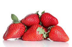 Fresh strawberries on white background Royalty Free Stock Images