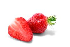 Fresh strawberries  on a white Royalty Free Stock Images
