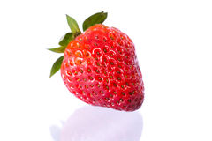 Fresh strawberries. On white background stock images