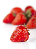 Fresh strawberries on a white background Stock Photography