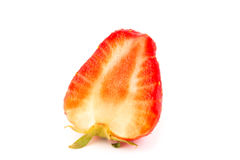 Fresh strawberries  on white background Royalty Free Stock Photos