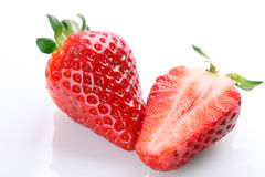 Fresh strawberries on white background Royalty Free Stock Photography