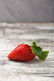 Fresh strawberries on a wooden table Stock Photo