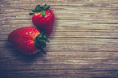 Fresh Strawberries On A Wooden Table Royalty Free Stock Photo