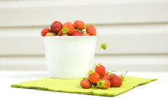 Fresh strawberry. Red fresh strawberry in the white bowl royalty free stock photography