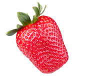 Fresh strawberry. Isolated on a white background Royalty Free Stock Images