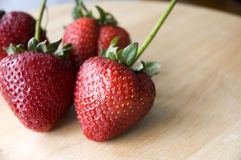 Fresh strawberry. Close up fresh strawberry on table Royalty Free Stock Photography