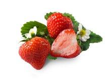 Fresh strawberry. Isolated on a white background Stock Photo